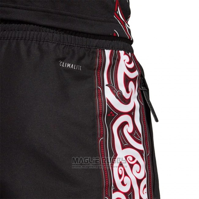Shorts Nuova Zelanda All Blacks Maori Rugby 2018 Nero