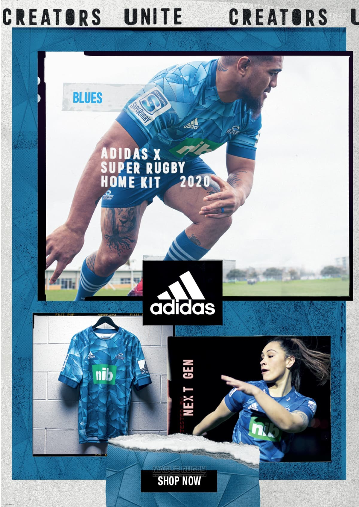 Maglia Blues Rugby 2020 Home