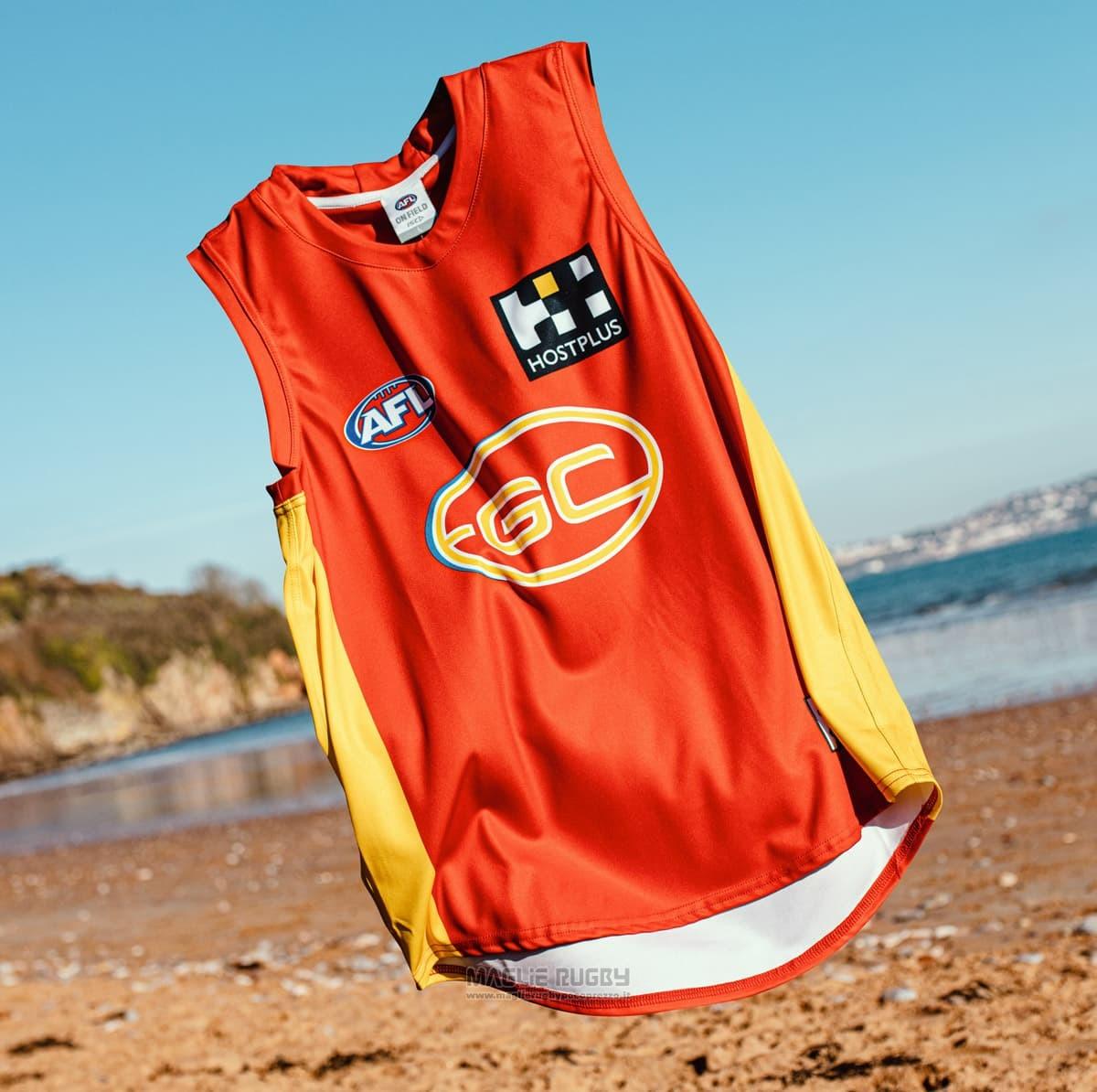Maglia Gold Coast Suns AFL 2019 Rosso